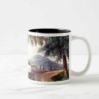 A Halt by the Wayside Two-Tone Coffee Mug