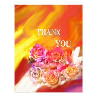A hand full of thanks tends toward you. letterhead