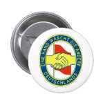 A hand washes the other one! pinback button