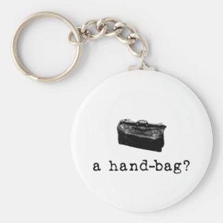 A Handbag? Basic Round Button Keychain