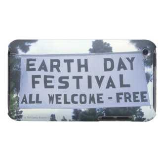 A hanging sign welcoming people to the Earth Day Barely There iPod Cover