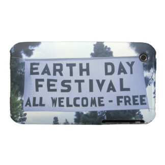 A hanging sign welcoming people to the Earth Day iPhone 3 Case