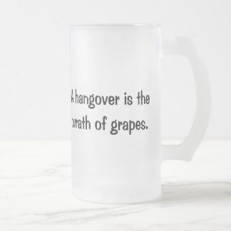 A Hangover Frosted Glass Beer Mug