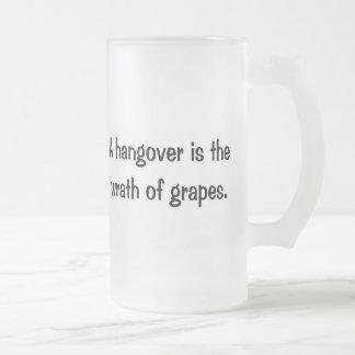 A Hangover 16 Oz Frosted Glass Beer Mug