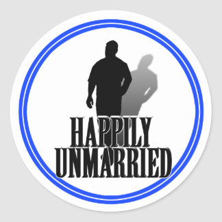 A HAPPILY UNMARRIED MAN STICKER