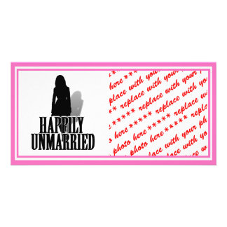A HAPPILY UNMARRIED WOMAN CUSTOMIZED PHOTO CARD