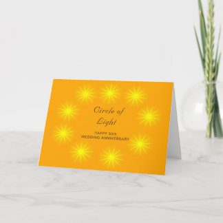 A Happy 50th Wedding Anniversary Card Stars