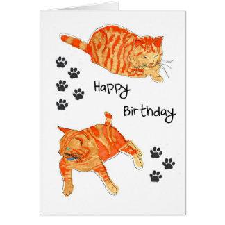 A Happy Birthday card.