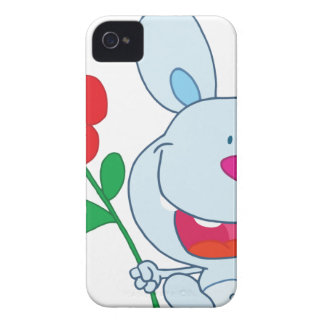 A Happy Bunny holds flower iPhone 4 Cases