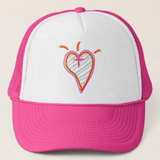 A Happy Christian Heart Trucker Hat