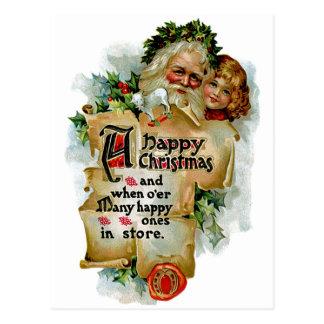 A Happy Christmas Postcard