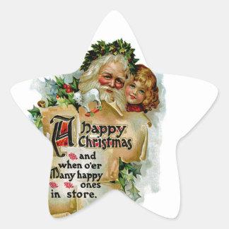 A Happy Christmas Star Sticker