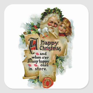 A Happy Christmas Square Sticker