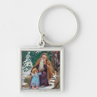 A Happy Christmas Time Father Christmas with Keychain
