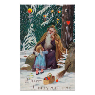 A Happy Christmas Time Father Christmas with Poster