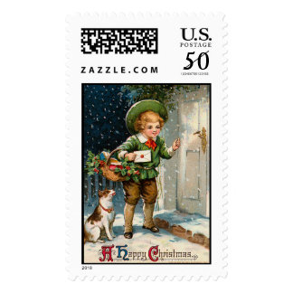 A Happy Christmas Vintage Christmas Stamps