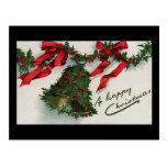 """ A Happy Christmas"" Vintage Postcard"