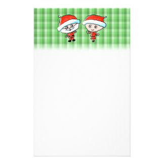 A Happy Couple at Christmas Mr and Mrs Claus Personalized Stationery