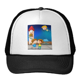 A happy couple trucker hat