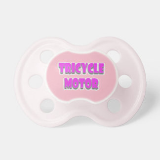 A happy, cute, funny, baby girl pacifier
