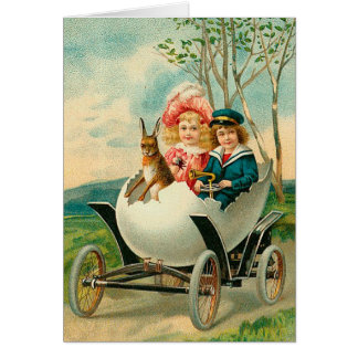 A Happy Easter To You Eggshell Car Card