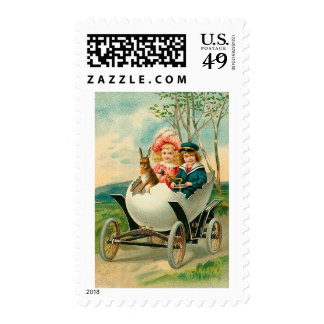 A Happy Easter To You Eggshell Car Postage Stamps