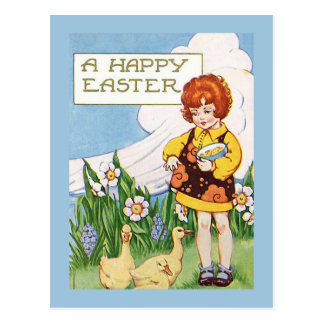 """A Happy Easter"" Vintage Postcard"