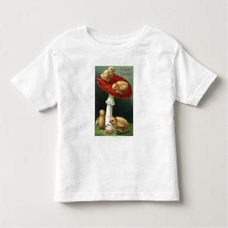 A Happy EasterChicks on Red Mushroom Toddler T-shirt