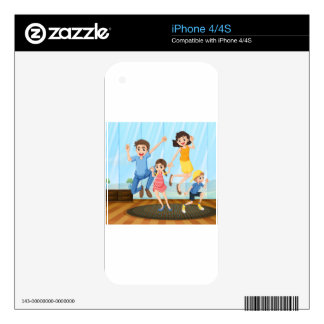A happy family decal for the iPhone 4S