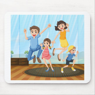 A happy family mouse pad