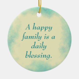 A Happy Family Ornament - Aqua