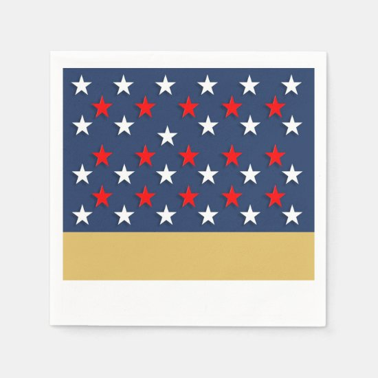 A Happy Fourth July 4th Party Paper Napkins