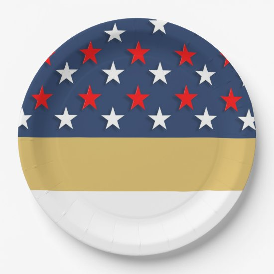 A Happy Fourth July 4th Party Paper Plates