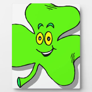a happy green clover for saint patrics day plaque