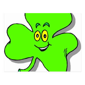 a happy green clover for saint patrics day postcard