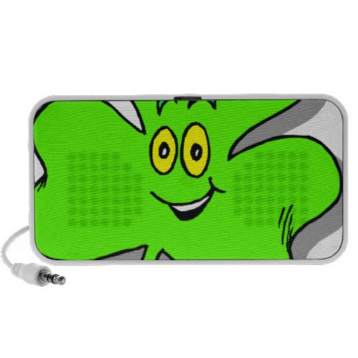 a happy green clover for saint patrics day travel speakers