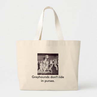 A Happy Greyhound with her Puppies Jumbo Tote Bag