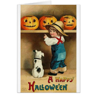 A Happy Halloween Greeting Card