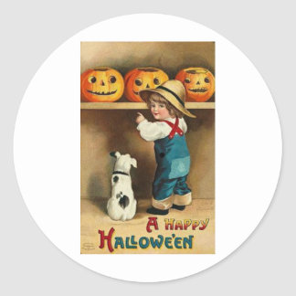 A Happy Halloween Classic Round Sticker