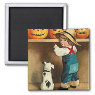 A Happy Halloween 2 Inch Square Magnet