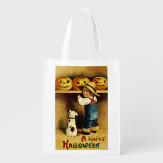 A Happy Halloween Reusable Grocery Bag