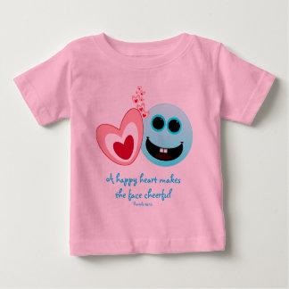 A Happy Heart - Proverbs 15:13 Baby T-Shirt