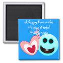 A Happy Heart - Proverbs 15:13 Fridge Magnet