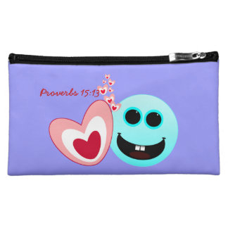 A Happy Heart... Proverbs 15:13 NIV Cosmetic Bag