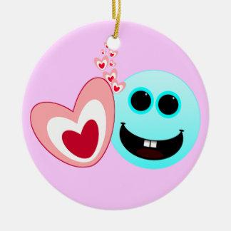 A Happy Heart - Proverbs 15 13 NIV Christmas Tree Ornaments