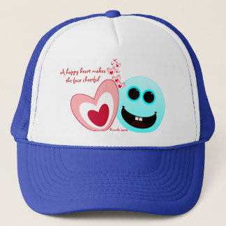 A Happy Heart - Proverbs 15:13 NIV Trucker Hat