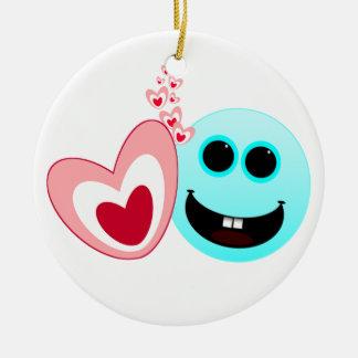 A Happy Heart - Proverbs 15 13 Christmas Tree Ornaments