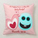 A Happy Heart - Proverbs 15:13 Throw Pillow