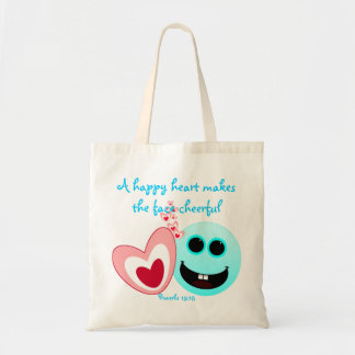 A Happy Heart - Proverbs 15:13 Tote Bag