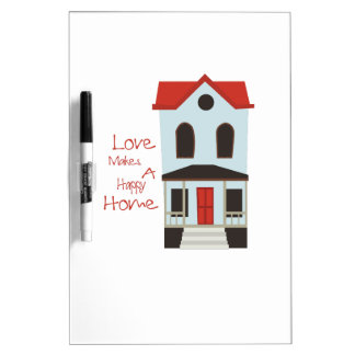 A Happy Home Dry-Erase Whiteboard